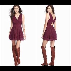Free People Lace Overlay Fit & Flare Dress💋